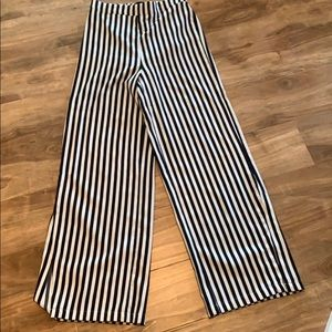 Women's WHO WHAT WEAR target striped flared pants